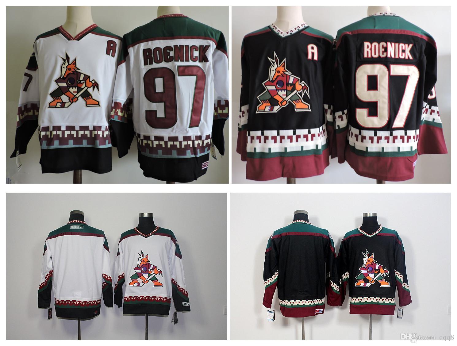2016 Men Phoenix Coyotes 97 Jeremy Roenick Hockey Jerseys Cheap Arizona  Blank Authentic Retro Vintage CCM Stitched Jerseys From Qqq8 1f08971cd