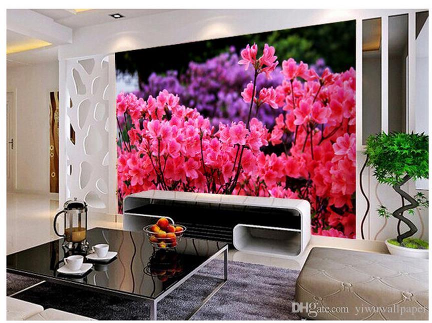 Азалия индивидуальные обои для стен мода романтический большой фон стены 3D настенные фрески обои для детская комната
