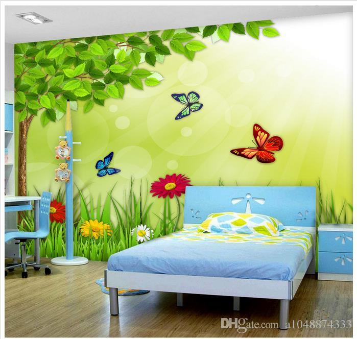 High end custom 3d photo wallpaper murals wall paper green - Papeles pintados para habitaciones juveniles ...