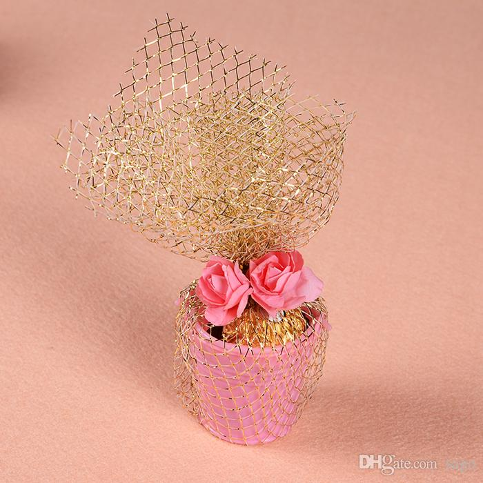 Wedding Favor Candy Wrapping Package Gold Mesh Net Ideal For Candy