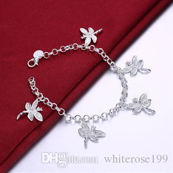 Vente en gros - Le prix le plus bas cadeau de Noël Bracelet en argent 925 + Set de boucles d'oreilles S17