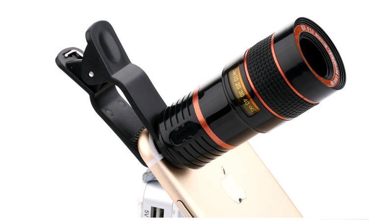Ingrandimento 8X universale Zoom ottico Obiettivo fotocamera telefono cellulare telescopio con clip iPhone 6 6S Plus iPhone 8 Samsung Glaxy S8