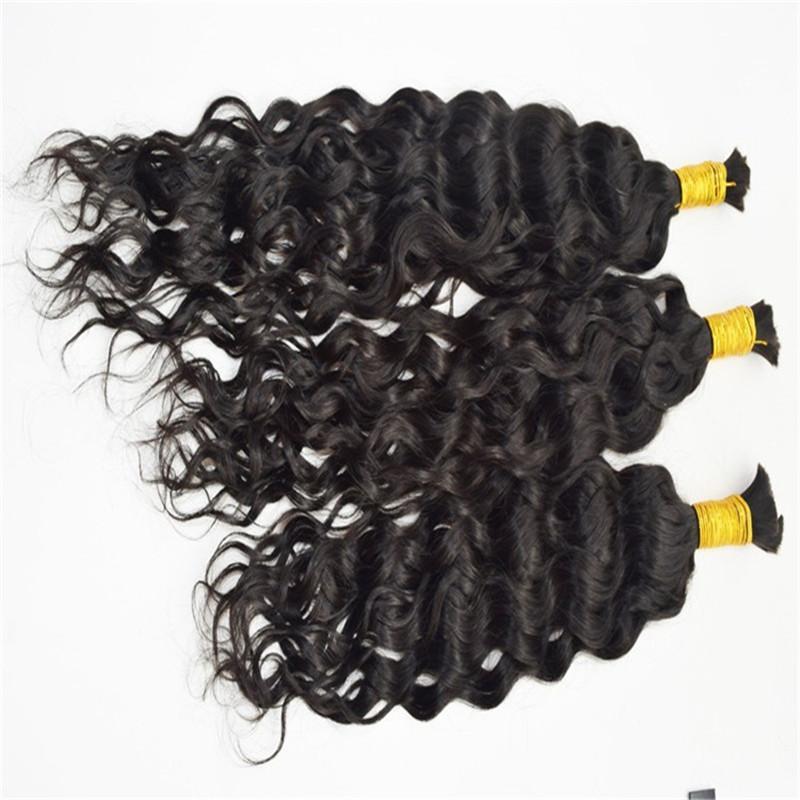 Yeni Örgü Saç Toplu 8A Sınıf Brezilyalı Doğal Dalga İnsan Saç Toplu 3 adetgrup