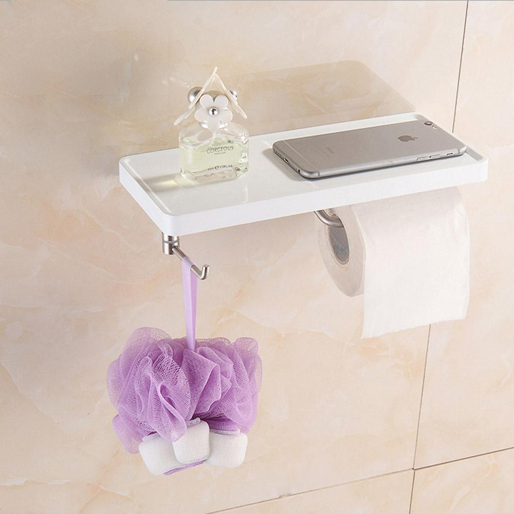 SUS 304 Brushed Stainless Steel Mobile Phone Shelf with Towel Hooks ...