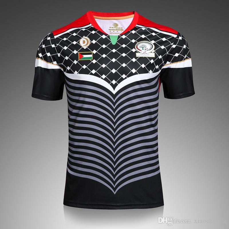 fac72b0eeef58 2019 Quality Thai Custom 2016 2017 Palestinians Jersey Camisa Home Away Men  Short Sleeve Shirt Jerseys Train Football T Shirt From Xiaochouya
