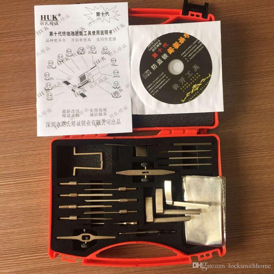G10 HUK Kit di utensili in alluminio multifunzionale Strumenti fabbro Strumenti grimaldello Set apriporta