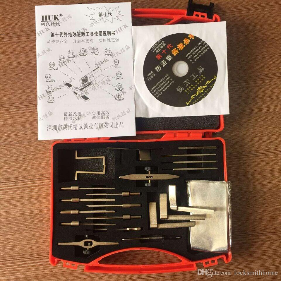 O G10 HUK Multifuncional folha de alumínio Kit de Ferramentas Ferramentas de Serralheiro Ferramentas Lock Pick Set abridor de porta