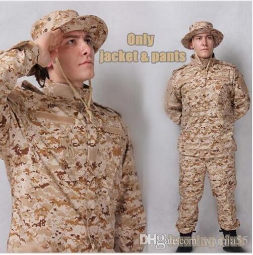 USMC BDU Ispirato Army Tactical Caccia Airsoft Combat Gear Uniforme da allenamento Camicia + Pantaloni A-TACS FG Multicam ACU Tuta sportiva all'aperto