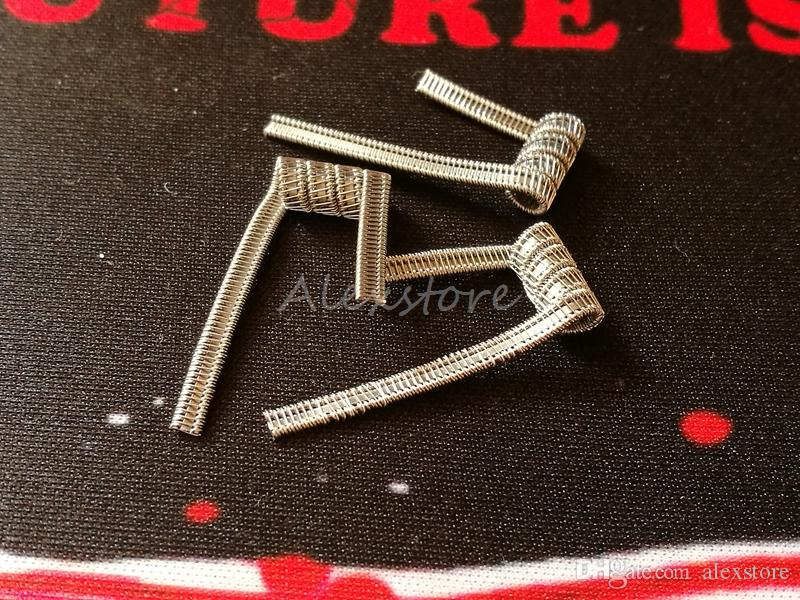 Staple Staggered Fused Clapton Coil 0.2ohm Pre-built Coils in One PP Bag Premade Wrap Howing Prebuilt Heating Wires Resistance for Vape