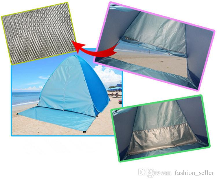 Graduation Travel Camp Beach Lawn Tents Quick Automatic Opening Tent Outdoors Gear UV Protection 50+ Tent for 2-3 People DHL/Fedex