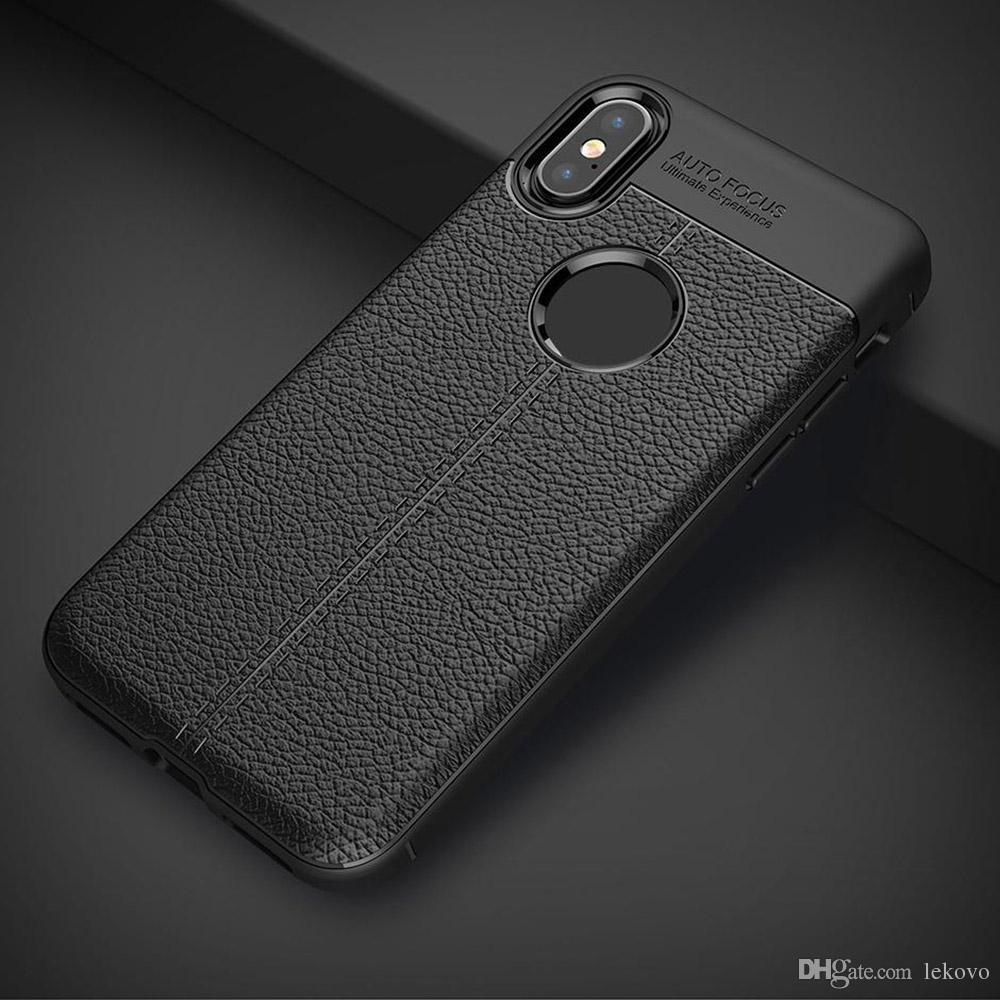 Neues Lycra-Verriegelungs-nähendes Leder für iPhoneX 8 plus Geschäfts-vollen Umschlag des Fall-7P mit Kleinpaket geben Verschiffen frei