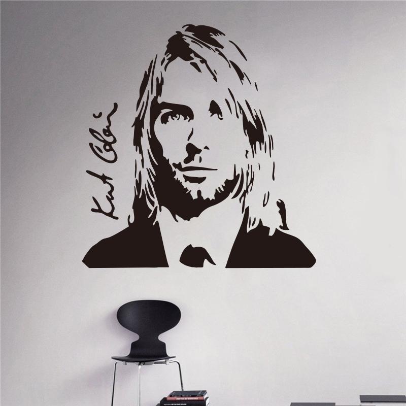 Kurt Cobain Wall Decal Grunge Nirvana Vinyl Sticker Rock Star Singer ...
