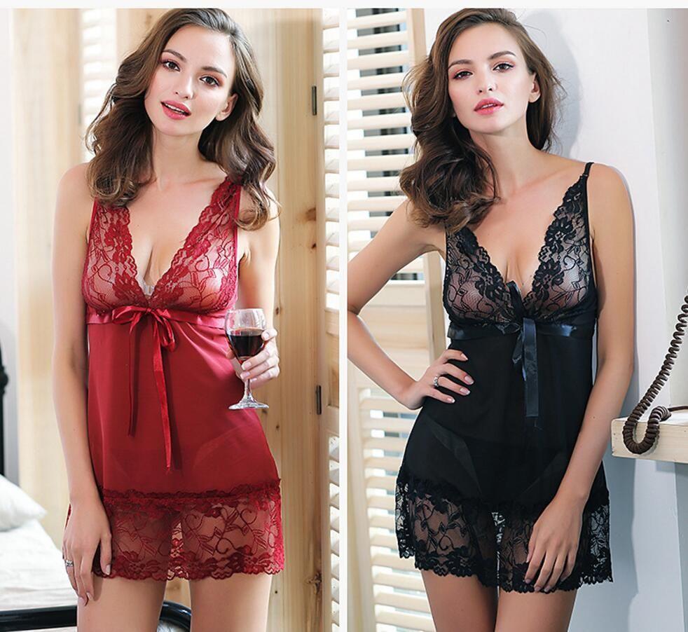 Ladies Sexy Summer Night Dress Women Sleeveless Nighties V Neck ...