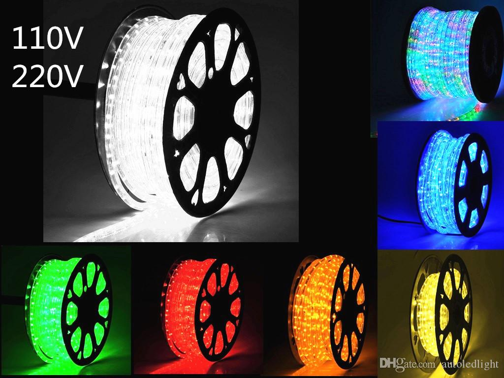 100m 2 wire round led rope lights crystal clear pvc tube ip65 water 100m 2 wire round led rope lights crystal clear pvc tube ip65 water resistant flexible holiday christmas party decoration lighting ir led strip led strip aloadofball Choice Image
