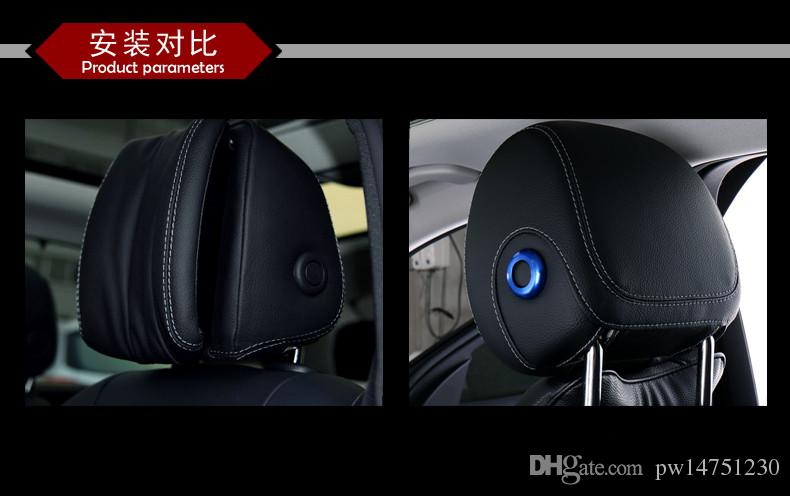Dedicated to the Mercedes-Benz GLC260 new C-class new E-class headrest lift button decorative stickers decorated trim