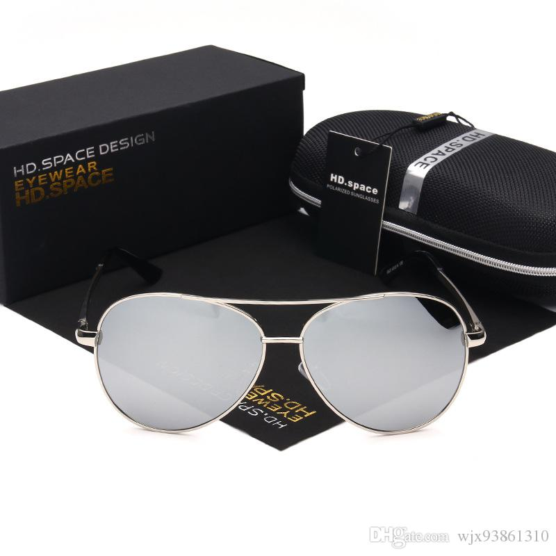 Men Polarized Dark Sunglasses For men Driving Classic Sports Air Force Navy Eyewear Flat Top Frame ld001