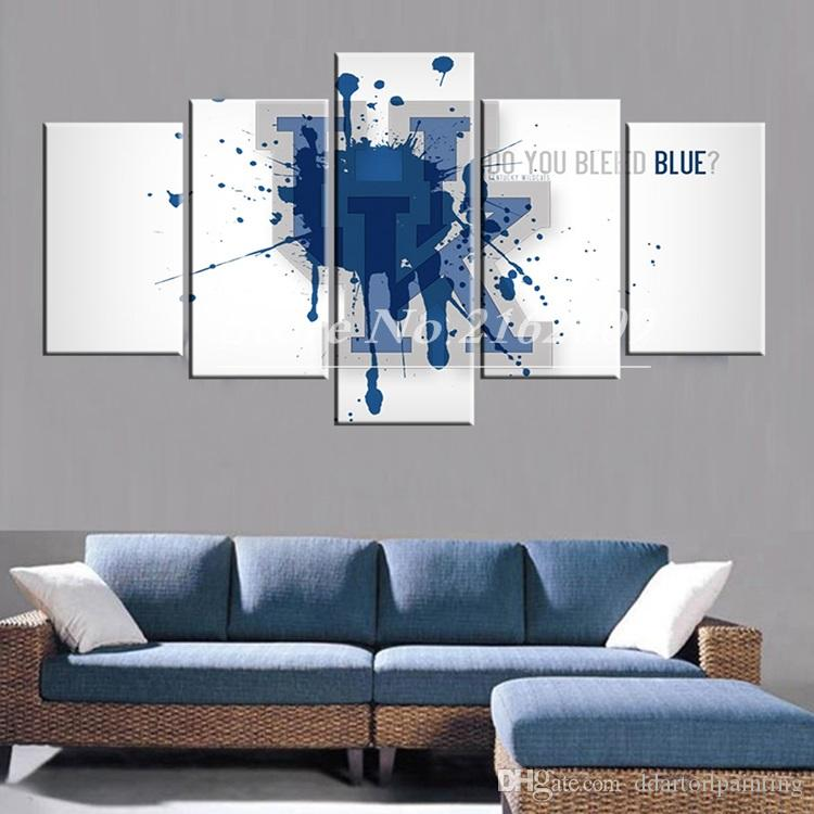 Unframed 5Panel America wall art design the UK Go Big Boston Paintings Team Pictures Sports Posters Logo Modern Stadium Photo