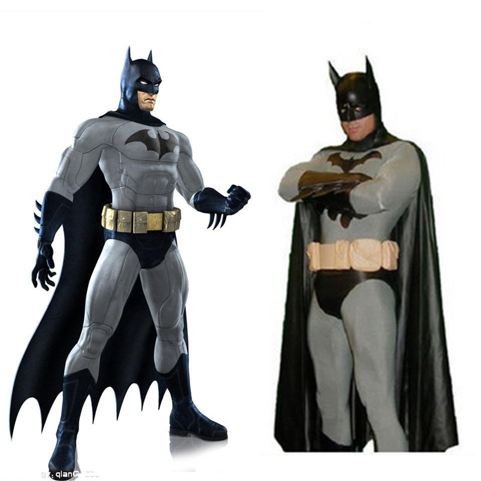 High Quality Black Batman Spiderman Halloween Costumes For Men ...