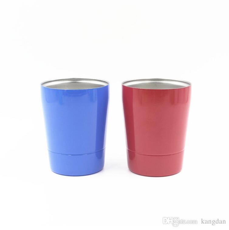 9 oz Aço Inoxidável Copos De Vinho Isolamento Bilayer portátil mini Copo De Cerveja Copo De Vinho Suco De Café Drinkware Canecas copos de carro