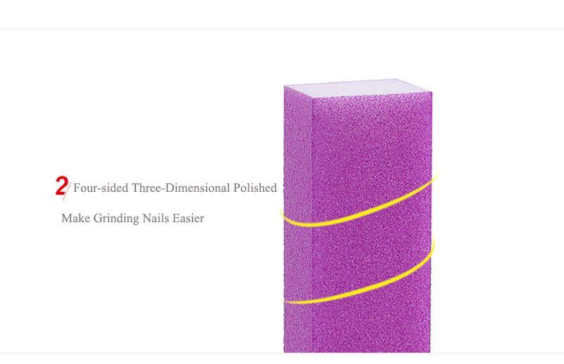 V1 D084 Venta al por mayor Venta Caliente Nail Art Fluorescente Nail Files Buffer Rectángulo White Heart Sanding Block Buffer Nail Art Esponja Archivo