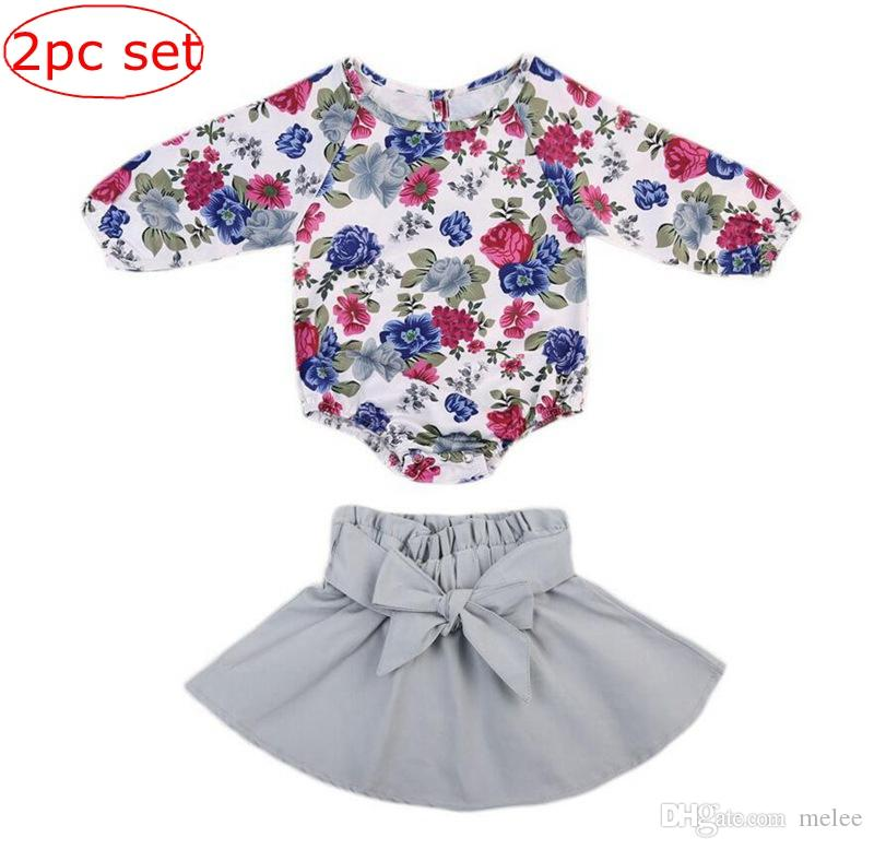 4b71d97a4 Ins Spring Baby Girls Floral Jumpsuit Balloon Sleeve Rompers + ...
