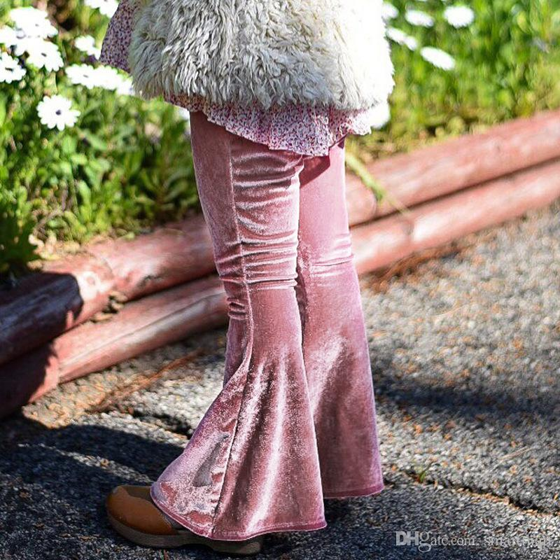 4847868e42 Everweekend Baby Girls Corduroy Boot Cut Pants Ins Hot Candy Color Pink And  Burgundy Color Sweet Children Cute Baby Autumn Spring Pants Cheap Kids Pants  ...