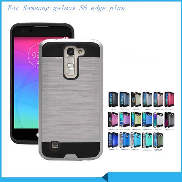 Armor Hybrid CASE For Samsung galaxy S6 edge plus S6 edge NOTE Edge/N9150 For LG X screen/K500N K3/LS450 Brushed Cover