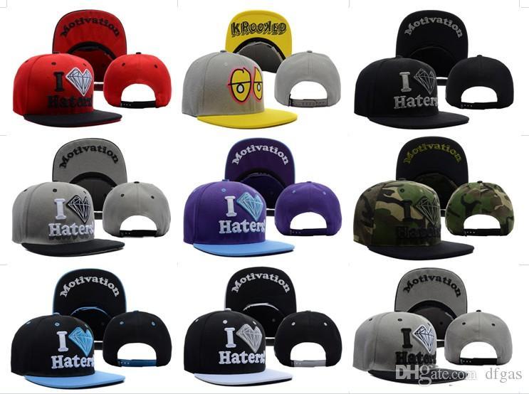 b161000d87a73 Hot DGK X Diamond Supply Co I Haters Snapback Caps   Hats Snapbacks Snap  Back Hat Men Women Baseball Cap 47 Brand Hats Vintage Baseball Caps From  Dfgas