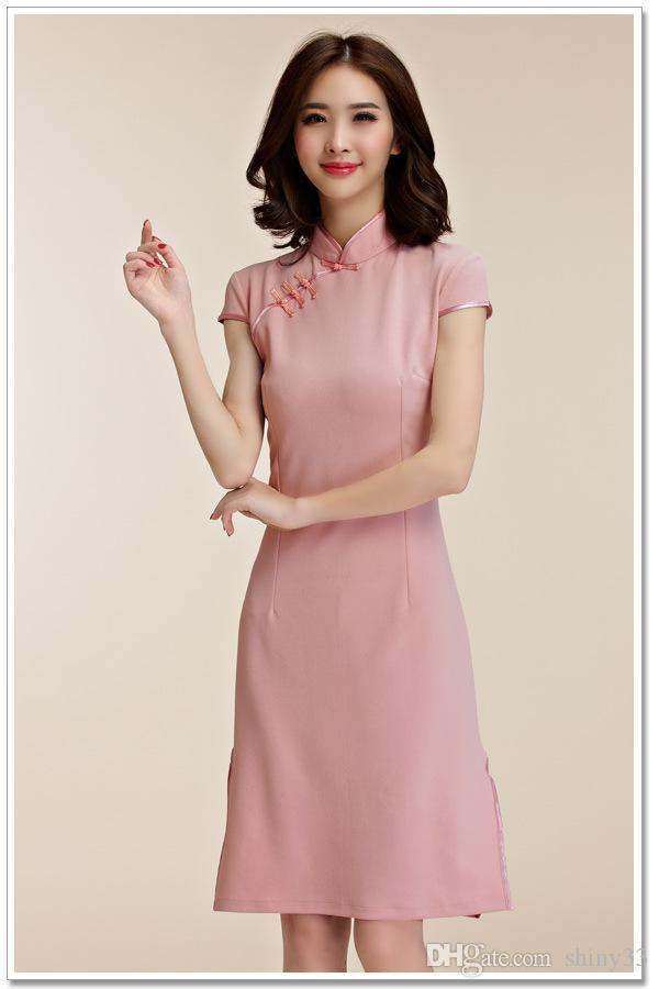 Compre Vestido Elegante Con Estilo De La Temperatura De Las Mujeres ...