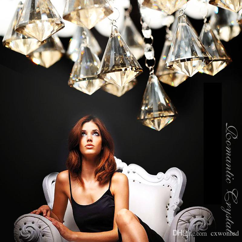 Darmowa Wysyłka Wysokiej Jakości Nowy Nowoczesny K9 Crystal LED LED Sufit Light Wisiorek Lampa Oświetlenie 50 CM 65 CM, 80C 100 cm