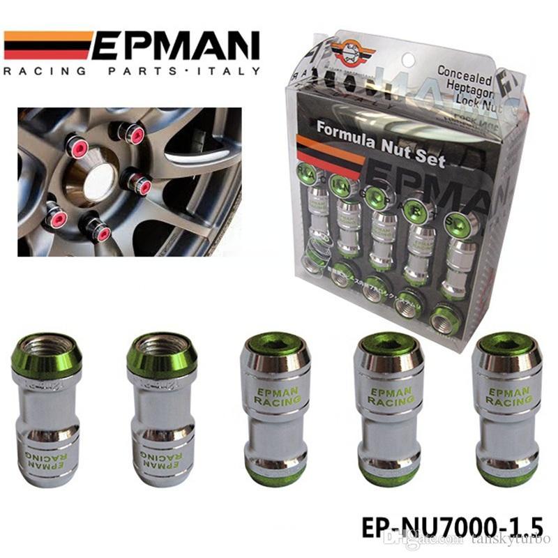 أصيلة EPAN الصيغة عجلات Lock Lug Nuts M12x1.5 acorn الحافة قريبة jdm ل volk الأشعة ستي EP-NU7000-1.5