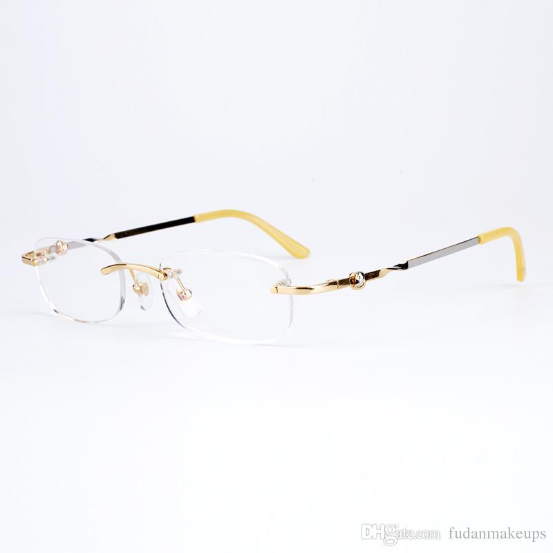 Großhandel Vintage Brillen Randlose Business Gläser Männer Frauen ...