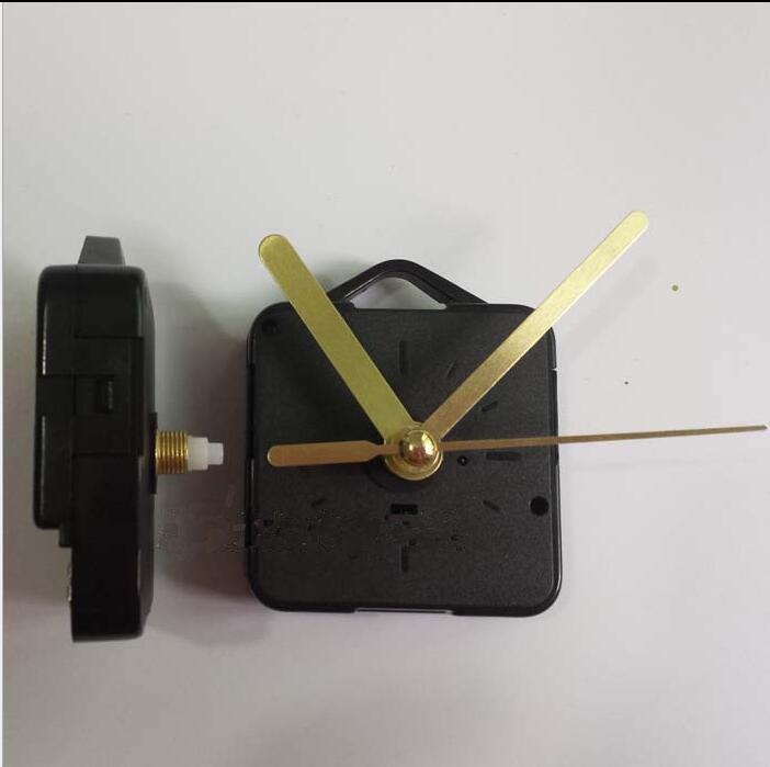 Gold Craft Gift Clock and Watch Parts Shaft Length 13cm Clock Accessories Best Quartz Clock Mechanism Movement