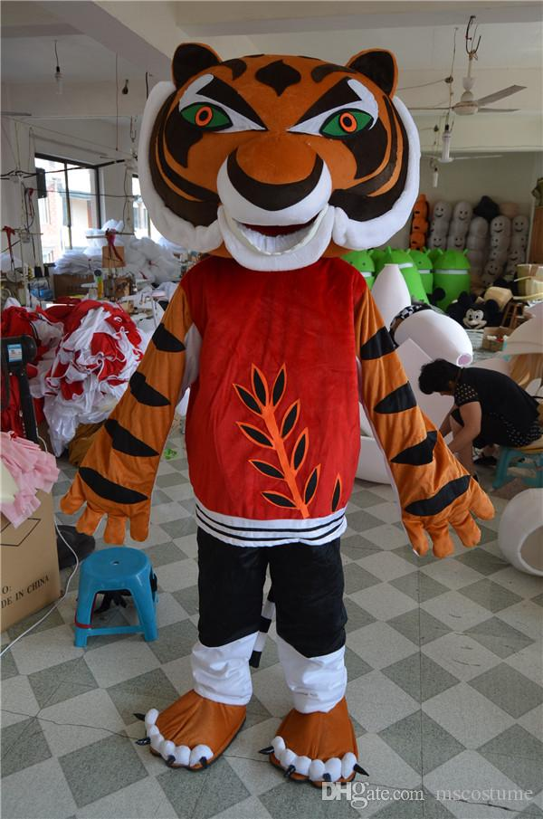 tiger mascot kung fu panda friend tigress costumes halloween carnival mascot costume adult size fancy dress dog halloween costumes infant halloween costumes - Kung Fu Panda Halloween