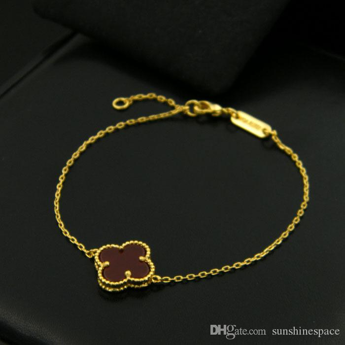 High Quality New 18k Gold Plated Flower And Butterfly Women Bracelet For Gift