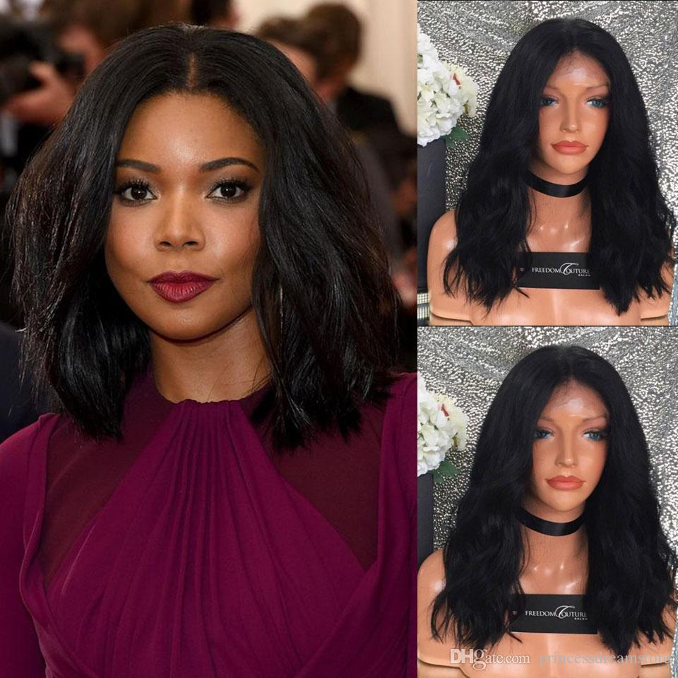 Long Bob Brazilian Hair Wigs For Black Women Wavy Full Lace Wig With Baby Hair Natural Wave Lace Front Wigs Bob Hair Style