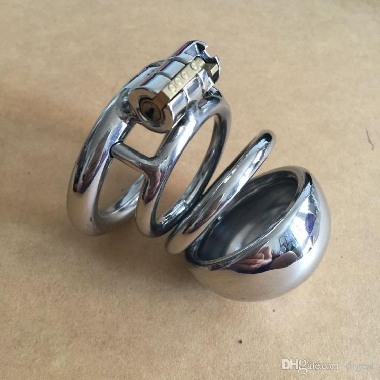 Wholesale - Hand-Polished Male Chastity Device Stainless Steel Chastity Belt Dildo Bondage Cock Chastity Penis Cage