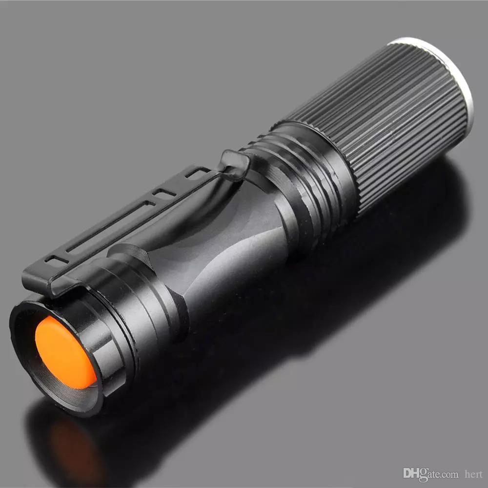 Mini LED Flashlight 2000LM CREE Q5 Powerful LED Flashlight Zoomable LED Torch Penlight Flashlight Waterproof XP-6
