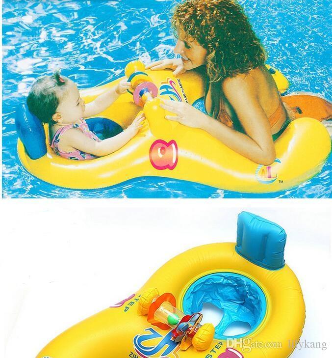Lago asiento del bebé del verano al aire libre de natación Agua salón de la piscina Madre e infantil del doble del círculo de natación anillos flotantes tumbona balsa