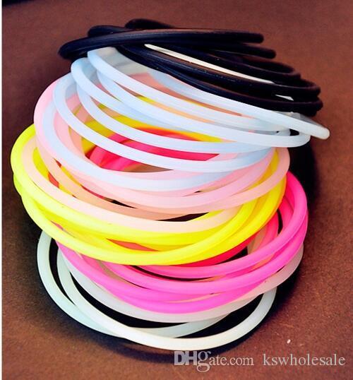 Silicone Hair Ties Or Bracelet Night Glow Elastic For Kid