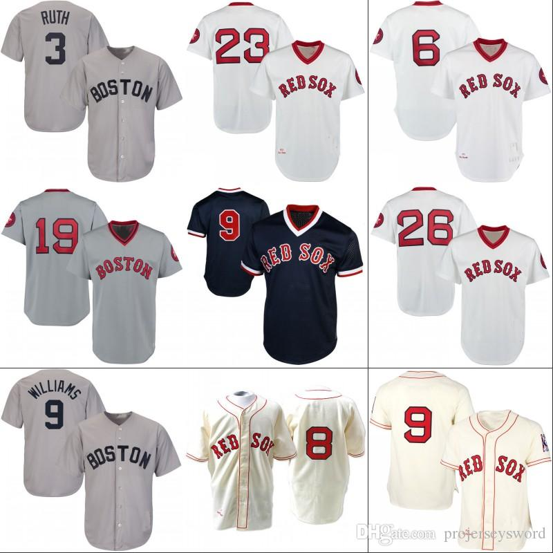 wholesale dealer c9e87 28387 boston red sox babe ruth jersey