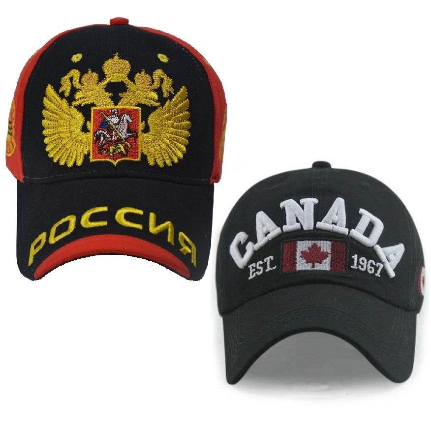 52129cadedc6f RUSSIA CANADA ENGLAND Baseball Cap Dad Hat for Men Women Snapback ...