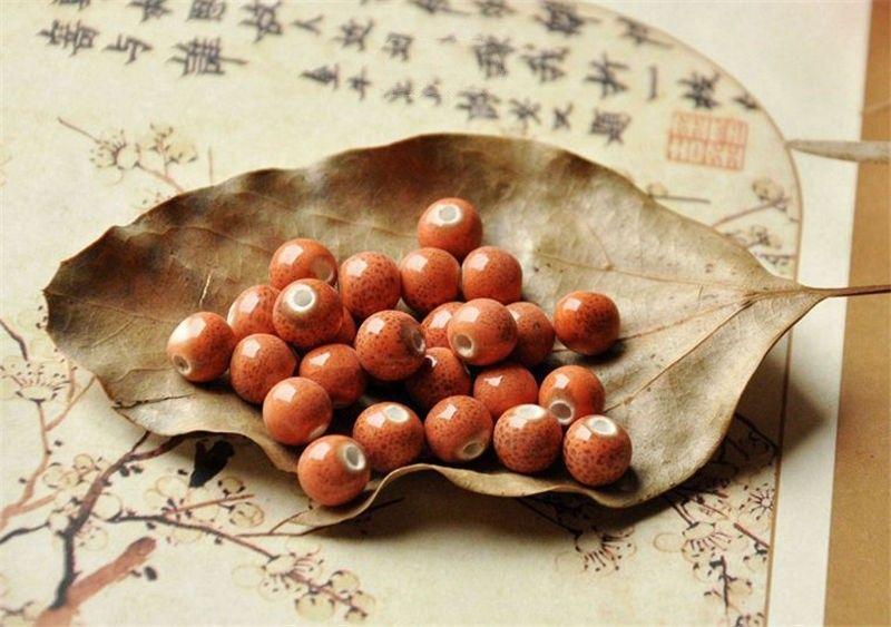 BoYuTe 100 шт. / Лот 9 цветов круглые 8 мм глазурь керамические бусины Diy изготовление ювелирных изделий модные бусы