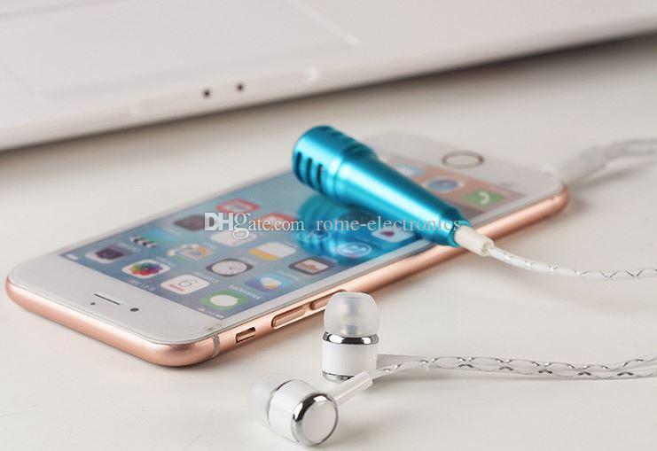 Moda portátil Mini Micrófono Micrófono de Condensador Estéreo para Iphone IOS Android Teléfono inteligente PC Portátil Chateando Cantando Karaoke