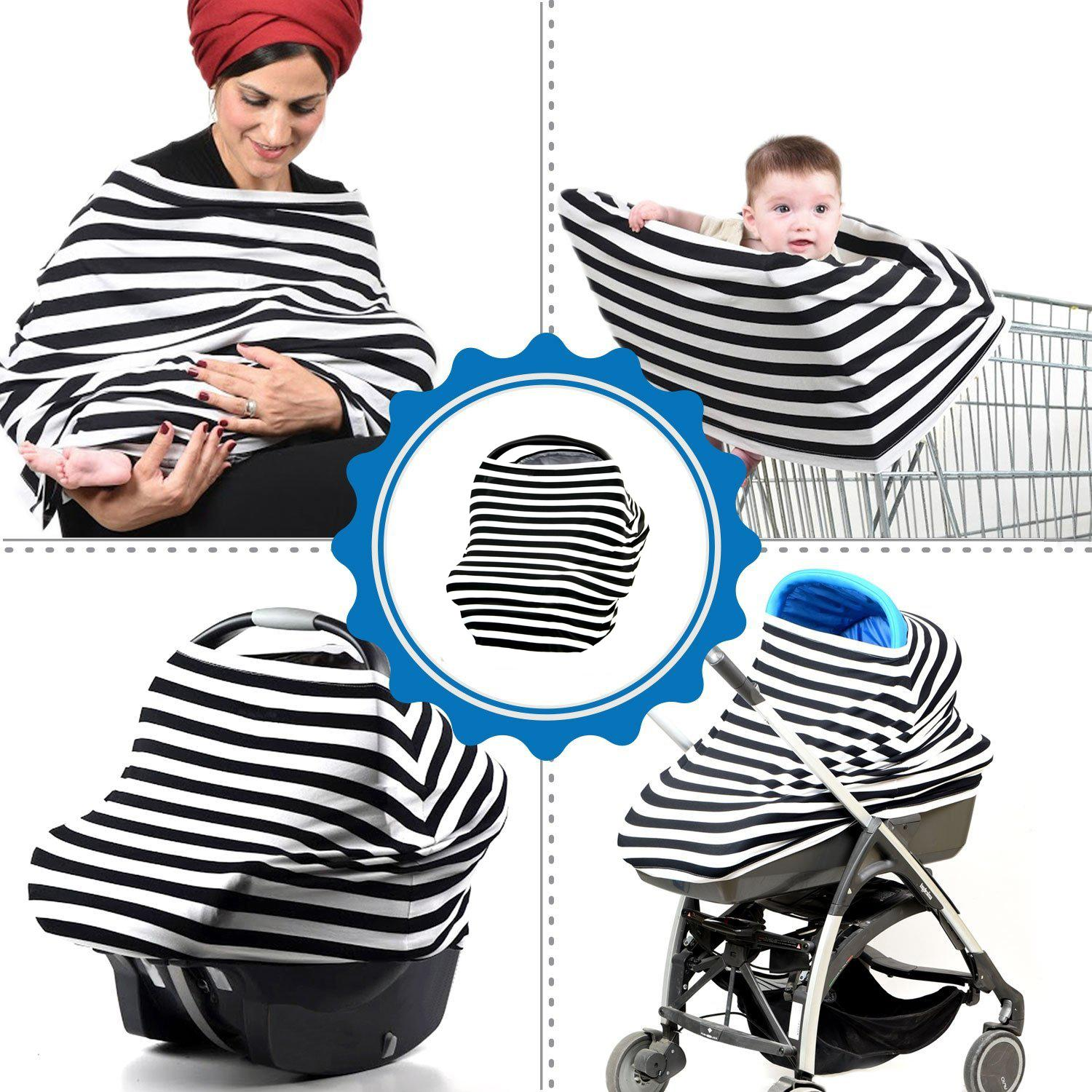 3 In 1 Nursing Covers Breastfeeding Baby Car Seat Cover Canopy Universal Fit For Newborn Boy And Girl Feeding Dish Tube Pumps From