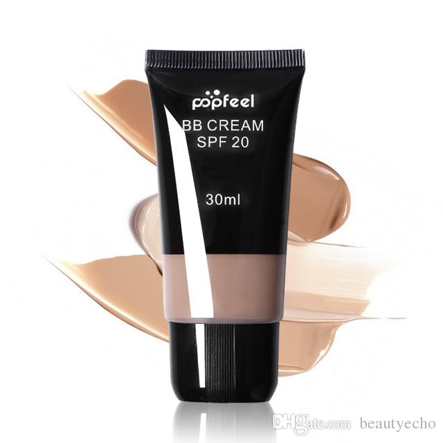 Popfeel Concealer Makeup Base Foundation BB Cream 30ml Brand POPFEEL Professional Sun Block SPF 20 Whitening Face Cream Full Covers +TB