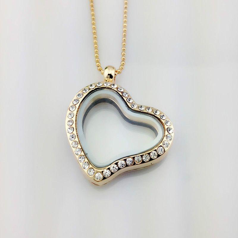 المعلقات المدلاة قلادة القلب المنجد قلادة قلادة كريستال القلب قلادة 28 ملليمتر سحر المنجد مجوهرات 4 ألوان
