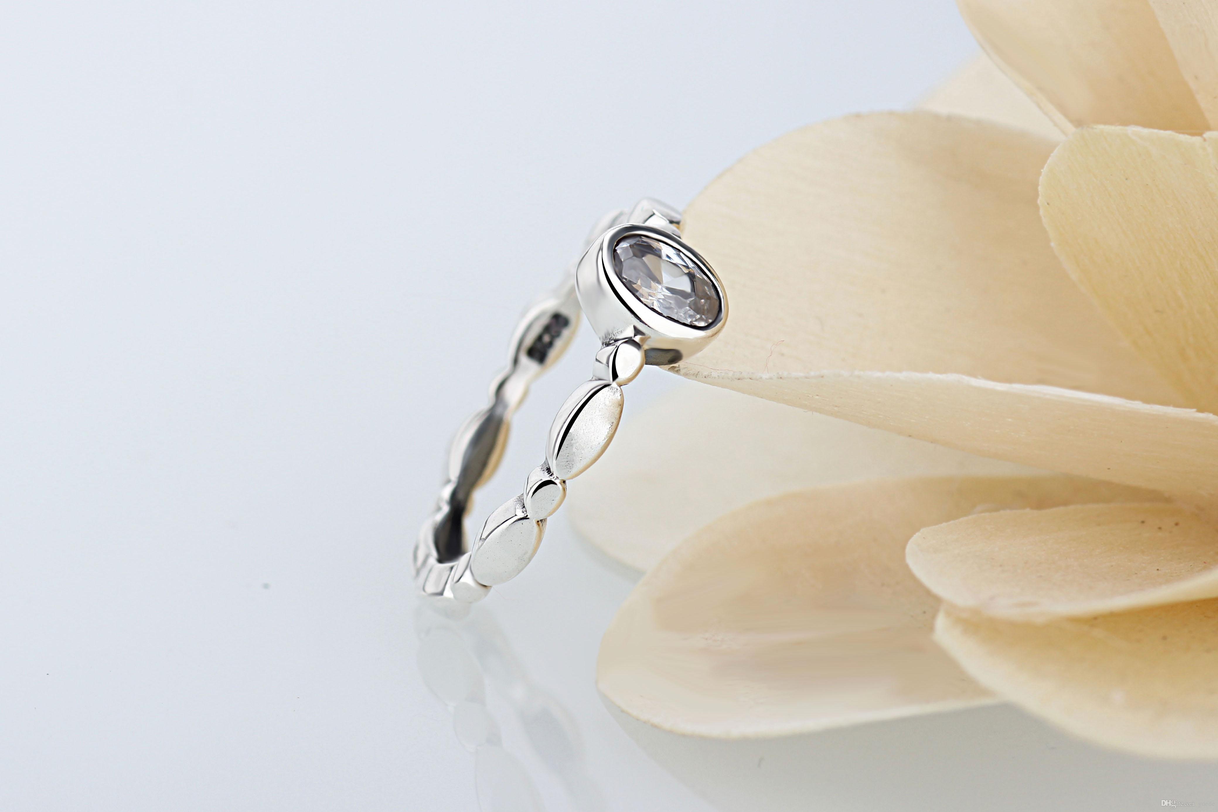 Ein großhandel Einfache boutique ringe 925 Silber Unterschrift Ring Fit Pandora Zirkonia Jahrestag Schmuck für Frauen weihnachtsgeschenk
