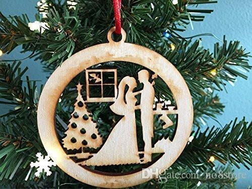 bride and groom first christmas together christmas ornament
