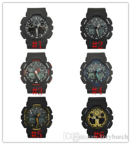 Новый топ relogio G100 Мужские спортивные часы, светодиодные хронограф наручные часы военные часы цифровые часы, хороший подарок для, dropshipping